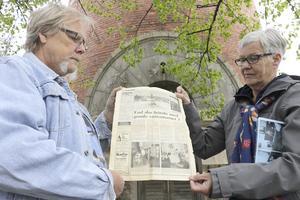 """Syskonen Sven Olov """"Kalle"""" Adolfsson och Birgitta Adolfsson Häggkvist bodde i vattentornet när de var små på 1950-talet. De har både bilder inifrån lägenheten och en tidningsartikel om tornet från Örebro-Kuriren 5 januari 1987 om tornet där familjen och lägenheten var med."""