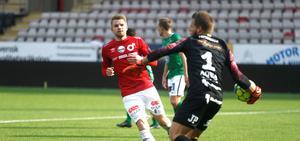 Erik Björndahl saknades  på grund av en ljumskskada när Degerfors föll mot Varberg.
