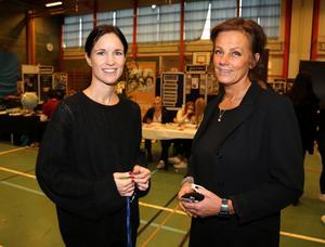 Susanne Setterqvist,studieyrkesvägledare, och helene Johansson, lärare och marknadsansvarig för gymnasiemässan.