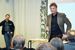 Med nytt namn och en miljard kronor ska Åre växa och bli bäst, det var budskapet från destinationsbolagets ledning, vd Lars-Börje Eriksson, till vänster, och styrelseordförande Lars Lindqvist.