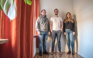 Gustaf Eriksson, Jonas Hedlund och Anna Skoglund rekommenderar att välja en yrkeshögskoleutbildning.