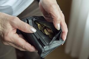 Pensionär med plånbok. Foto: Henrik Montgomery/TT