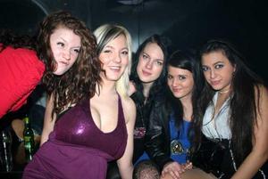 År 2010. Natta, Sofia, Jenny, Vanessa och Vera på Silk.