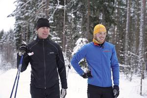 Roberth Fälth var en av tre skidåkare som vann huvudsponsorn Preems tävling att få träna med Gunde Svan. Foto: Pressbild