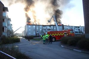 Totalt ska 47 personer vara boende i det branddrabbade huset på Valhallagatan.