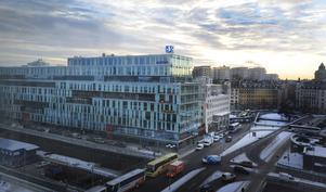Schibstedthuset vid Stockholms central, där Svenska Dagbladet har redaktion. Här ramlar 40 miljoner kronor i driftstöd in. Foto: staffan Löwstedt/SvD/Scanpix