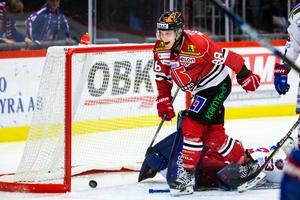 Rask jublar efter målet mot Oskarshamn. Efter tio matcher står han noterad på två mål och en assist. Foto: Johan Bernström/BILDBYRÅN