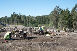 De arkeologiska utgrävningarna som gjordes i Norvik 2018 var omfattande. Berget som undersöktes togs bort för att ge plats för järnvägsspåret i Norvik.