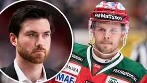 Jeremy Colliton var en viktig anledning bakom Nilssons flytt. Foto: Andreas Sandström/Daniel Eriksson (Bildbyrån).