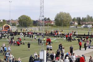 Familj och släkt till klubbens medlemmar samlades under dagen för att ta del av aktiviteterna.