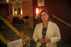Kerstin Pettersson är kultursamordnare på Strömsunds kommun. Hon lovade fler spännande kulturkaféer på Saga framöver.