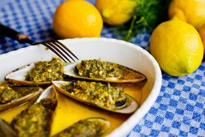 Currygratinerade musslor är en favorit i repris.