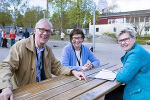 Barbro Kjellberg, Bo Åkebrig och Christina Falhammar Schütz är alla tre skolvolontärer.