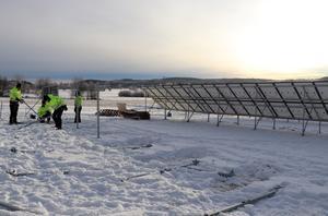 Totalt är det 360 kvadratmeter panel som ska fånga upp solstrålarna.