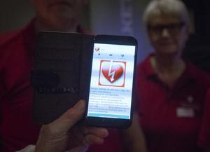 Föreningen HjärtLung Bollnäs-Ovanåker tipsade om  appen Rädda hjärtat.