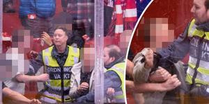 Tre personer ska stängs av efter slagsmålet på läktaren. Bild: Pär Olert/Bildbyrån.