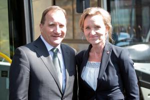 Statsminister Stefan Löfven (S) och kommunstyrelseordförande Boel Godner (S). Foto: Urban Brådhe