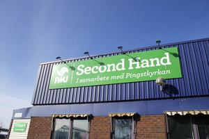 PMU Second Hand i Köping ligger vid Big Inn-området.