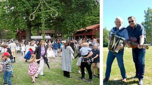 Midsommar firas på flera håll i Timrå. I Bergeforsparken håller Hasse Nordin och Urban Lindholm i arrangemanget.