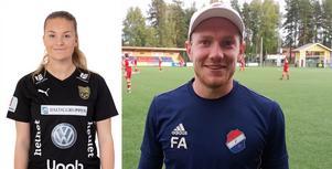 Linnea Lindström och Fredrik Andersson. Foto: Umeå IK och Kristian Bågefeldt