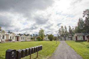 Vissa attefallshus, som de här på Blomstergården, kommer att inom något år antingen flyttas till ett nytt område eller säljas på öppna marknaden.
