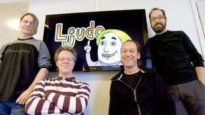 LOKALA filmskapare. Kenneth Skoglund, Mattias Gordon, Mats Dante Jernudd och Håkan Karlsson.