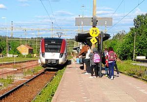 Flera tåg till och från Fagersta är inställda under dagen. Bilden är tagen vid ett tidigare tillfälle.