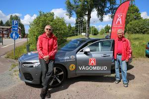 Representanter från Motormännens Riksförbund lokalklubb Dalarna, Bert Linder och Mats Eklund informerade och bjöd på frågesport med fina priser.