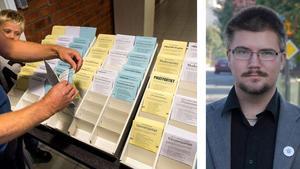 Öppna valsedlar kan göra det möjligt för nazister och andra att kuppa sig in i fullmäktige i Timrå, vilket ogillas av Marcus Molinder, SD i Timrå.