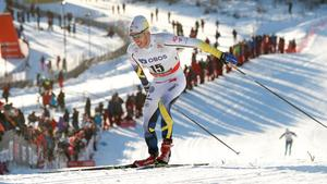 Marcus Hellner avstår världscuptävlingen i Holmenkollen i helgen. Arkivfoto: Terje Bendiksby/TT