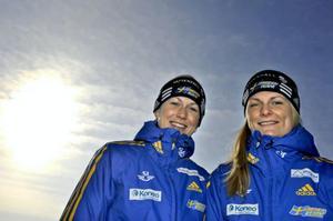 Helena och lillasyster Jenny var länge med och tävlade tillsammans i A-landslaget. Foto: Arkiv
