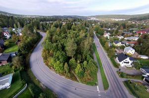 Området som ligger vid Hagavägen ska säljas efter årsskiftet. Bild: Jan Olby