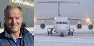 Gunnar Lenman, vd på Scandinavian Mountains Airport.