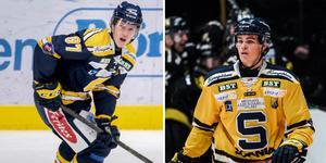 Både Hugo Gustafsson och Axel Andersson är uttagna till Juniorkronorna. Foto: TT och Bildbyrån.