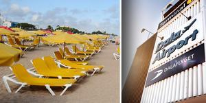Chartertrafiken har minskat på Dala Airport.