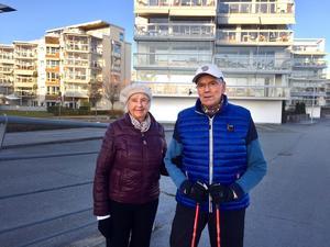 Gudrun och Kjell Holmberg ångrar inte flytten till Östra hamnen.