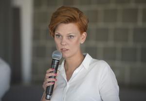 Frida Edman, chef för Bokmässan, ser den starka internationella gästlistan som ett tecken på att Bokmässan är där den vill vara. Foto: Fredrik Sandberg/TT/ Arkivbild.