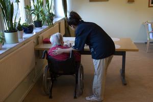 Är det de äldre eller kvalitetsregistren som de anställda inom äldreomsorgen ska vårda? Bild: Henrik Montgomery/Scanpix