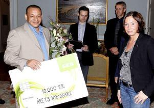 2011 utsågs Hayssam Mohamad till Årets Nybyggare vid ett evenemang på Gävle slott. Foto: Arkiv.