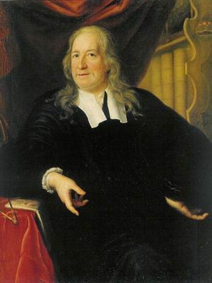 Olof Rudbeck den äldre 1696. Målning av Martin Mytens.
