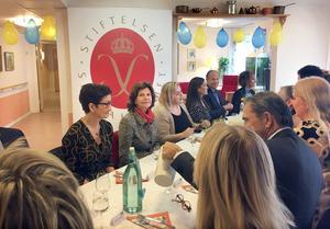 Efter mötet med Silviahemmets styrelse var det dags för lunch.