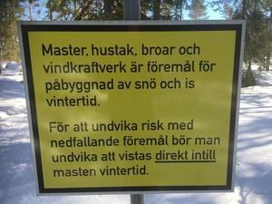 Skylt på Spjutåsberget. Bild: Jan Ahlström