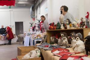 Det fanns en hel del hantverk på Täljstenens julmarknad.