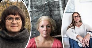 Karin Olsén Öberg, Linda Lasson och Anna Norvell är Ångermanlands representanter på vårsalongen som öppnar i morgon.