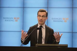 Kristersson tror att det går att tämja SD.  Foto:TT.