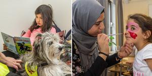 Att läsa bok för en läshund eller få en ansiktsmålning var några av de många aktiviteterna under