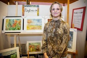 Tove Sander har målat sen barnsben och sålde många av sina akvareller.