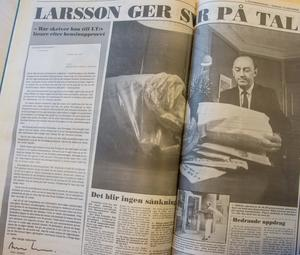 Allan Larsson gav svar på tal: Inget sänkt bensinpris (LT 16/10 -90)