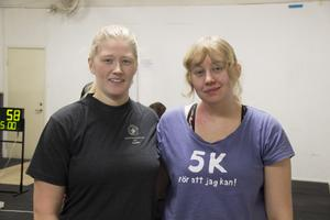 Systrarna Sandra Roghe och Erika Ahlskog har börjat tävla i kettlebell.