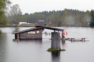 Gapkojan vid brofästet vid bron i Säla i Äppelbo.
